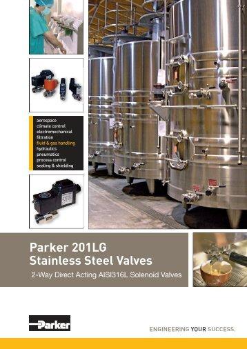 Parker 201LG Stainless Steel Valves