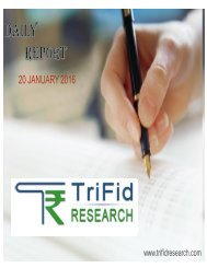 Equity Tips  Equity Trading Tips  Trifid Research