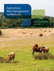 Agriculture Risk Management in Manitoba