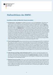 Halbzeitbilanz des BMWi
