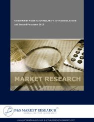 Mobile Wallet Market Size, Share and Forecast by P&S Market Research
