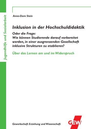 Broschüre von Anne-Dore Stein - GEW