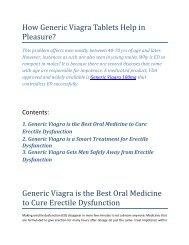 How Generic Viagra Tablets Help in Pleasure