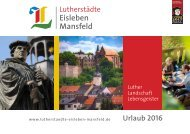 Urlaubsmagazin der Lutherstädte Eisleben & Mansfeld 2018