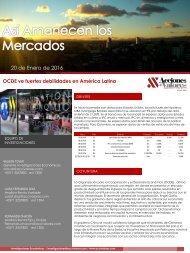 20 de Enero de 2016 OCDE ve fuertes debilidades en América Latina