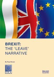 Brexit The 'Leave' Narrative