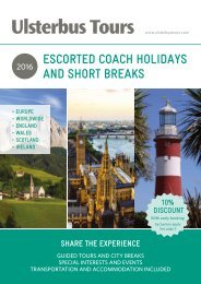 ESCORTED COACH HOLIDAYS AND SHORT BREAKS
