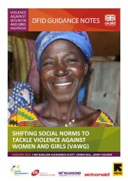 SHIFTING SOCIAL NORMS TO TACKLE VIOLENCE AGAINST WOMEN AND GIRLS (VAWG)