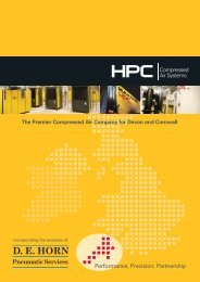 DE HORN Pneumatic Services - HPC Compressed Air Systems
