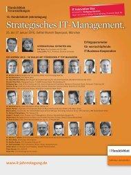 Strategisches IT-Management. - IEB