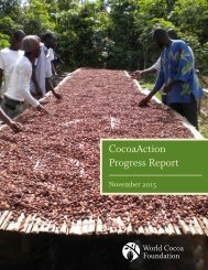 CocoaAction Progress Report