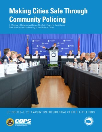 Making Cities Safe Through Community Policing
