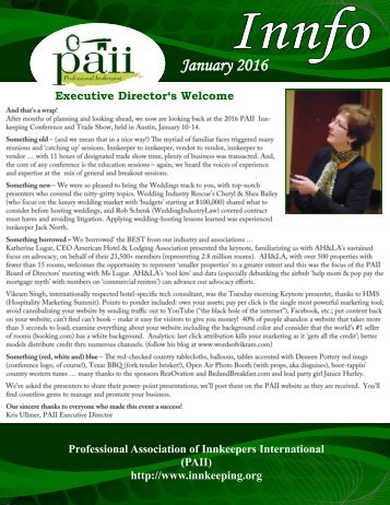 PAII newsletter January 2016