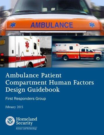 Ambulance Patient Compartment Human Factors Design Guidebook
