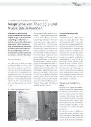 Ansprüche von Theologie und Musik (an-)erkennen (Erwin Mattmann)