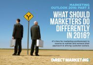 WHAT SHOULD MARKETERS DO DIFFERENTLY IN 2016?