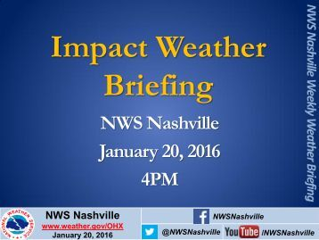 Impact Weather Briefing