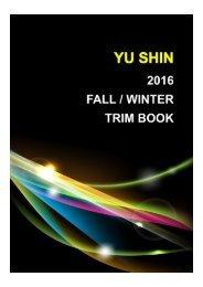 YU SHIN 2016 FALL / WINTER TRIM BOOK