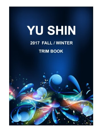 YU SHIN 2017 FALL / WINTER TRIM BOOK