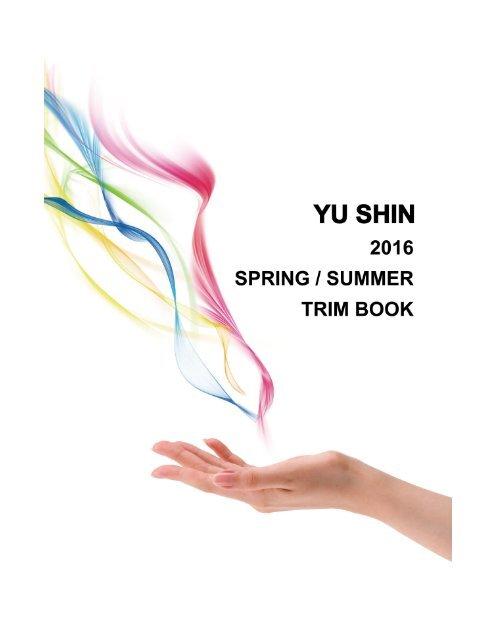 YU SHIN 2016 SPRING / SUMMER TRIM BOOK