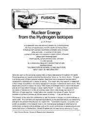 Nuclear Energy from the Hydrogen Isotopes - IAEA