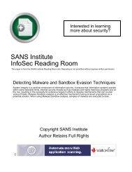 SANS Institute InfoSec Reading Room