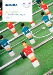 Top of the table Football Money League