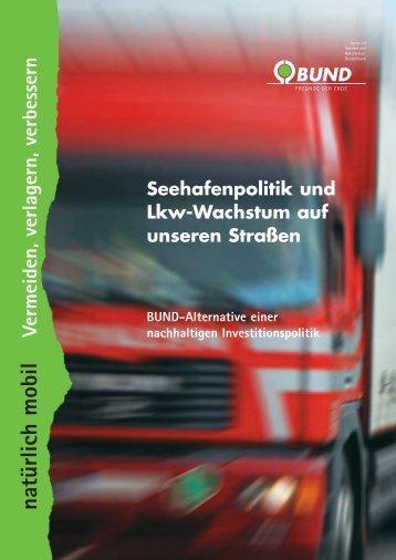 """Flyer """"Seehafenpolitik und Lkw-Wachstum auf unseren Straßen"""