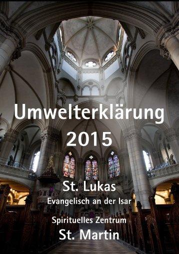 Umwelterklärung St. Lukas 2015