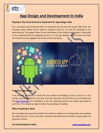 App  Design and Development In India