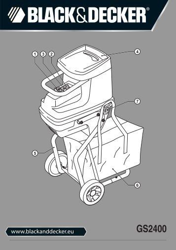 BlackandDecker Distruttore Giardin- Gs2400 - Type 1 - Instruction Manual (Europeo)
