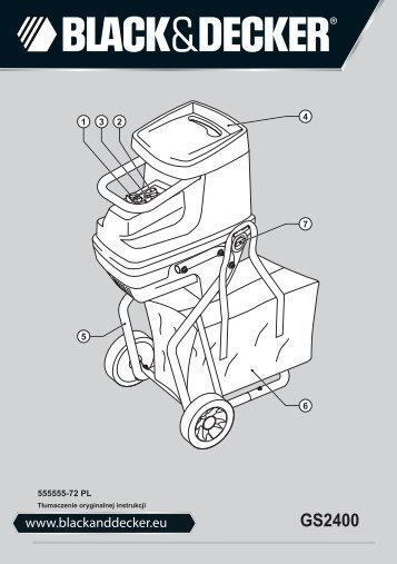 BlackandDecker Distruttore Giardin- Gs2400 - Type 1 - Instruction Manual (Polonia)
