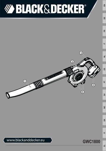BlackandDecker Soffiante Depress- Gwc1800 - Type H1 - Instruction Manual (Europeo)