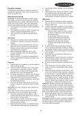 BlackandDecker Soffiatore- Gw3010v - Type 2 - Instruction Manual (Slovacco) - Page 5