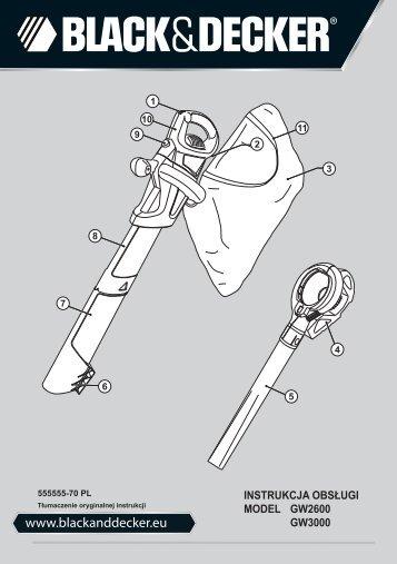 BlackandDecker Soffiatore- Gw3000 - Type 5 - Instruction Manual (Polonia)