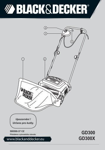 BlackandDecker Rastrello- Gd300x - Type 1 - Instruction Manual (Czech)