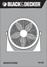 BlackandDecker Ventilatore- Fb1620 - Type 1 - Instruction Manual (Inglese - Arabo)