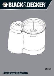 BlackandDecker Minitritattutto- Sc350 - Type 1 - Instruction Manual (Inglese - Italiano - Greco)
