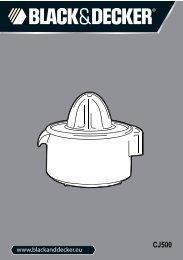 BlackandDecker Spremiagrumi- Cj500 - Type 1 - Instruction Manual (Inglese - Italiano - Greco)
