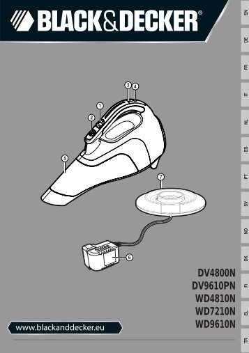 BlackandDecker Aspiratori Ricaricabili Portatili- Dv4800n - Type H1 - Instruction Manual (Europeo)