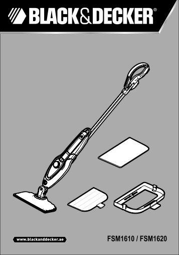 BlackandDecker Lavapavimenti A Vapore- Fsm1620 - Type 1 - Instruction Manual (Inglese - Arabo)
