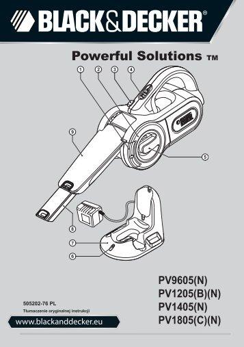BlackandDecker Aspiratori Ricaricabili Portatili- Pv1205b - Type H1 - Instruction Manual (Polonia)