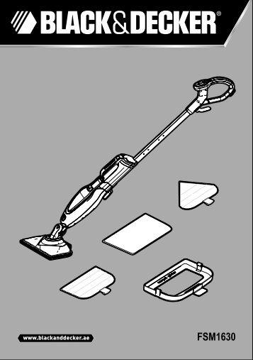 BlackandDecker Lavapavimenti A Vapore- Fsm1630 - Type 1 - Instruction Manual (Inglese - Arabo)