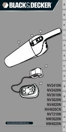 BlackandDecker Aspiratori Ricaricabili Portatili- Nv2410n - Type H1 - Instruction Manual (Europeo)