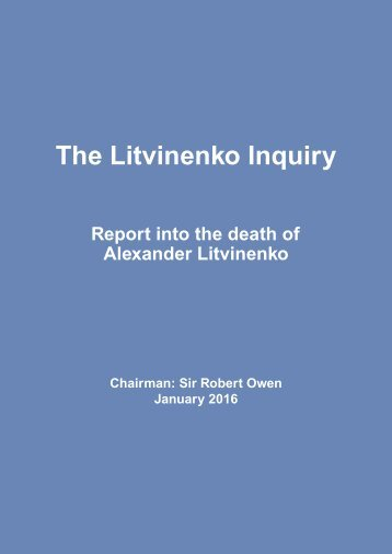 The Litvinenko Inquiry