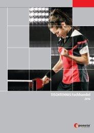 Sponeta - Tischtennis Katalog Fachhandel 2016 (deutsch)