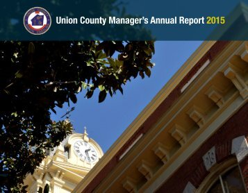 Union County Manager's Annual Report 2015