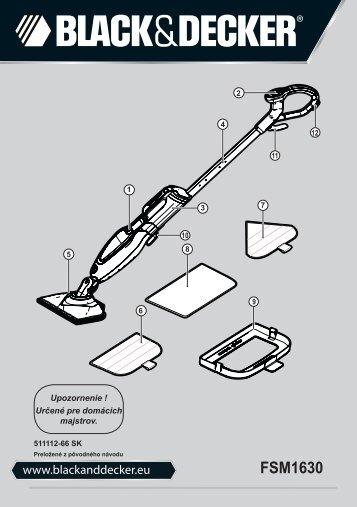 BlackandDecker Lavapavimenti A Vapore- Fsm1630bl - Type 1 - Instruction Manual (Slovacco)