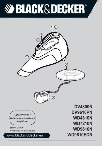 BlackandDecker Aspipolv Bagno/asciu- Wd4810n - Type H1 - Instruction Manual (Slovacco)