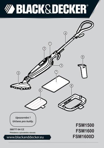 BlackandDecker Lavapavimenti A Vapore- Fsm1600 - Type 1 - 2 - Instruction Manual (Czech)